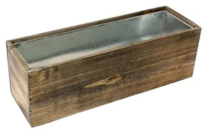 Cys Wood Rectangle Window Box Wood Planters With Removable Zinc Liners