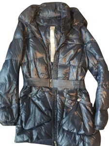 Add Down Puffer Hooded Belted Coat