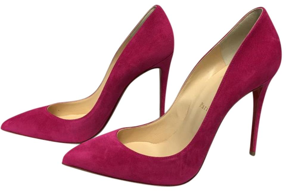 Christian Louboutin Pink Classic Pigalle Follies Rosa 100mm Euro Veau Velours Leather Sz. Euro 100mm Pumps 282419