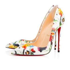 Christian Louboutin Pigalle Follies Heels Point Toe White Pumps