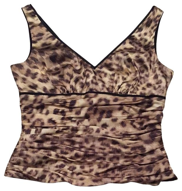 Adrianna Papell Top Brown And Black