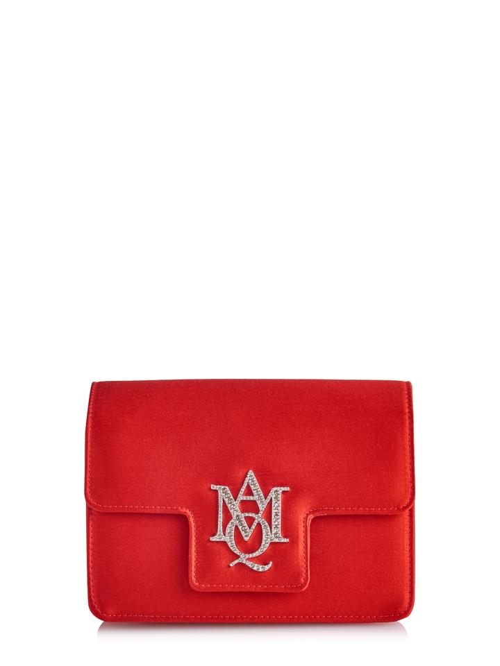 alexander mcqueen classic rectangular shape red clutch on tradesy. Black Bedroom Furniture Sets. Home Design Ideas