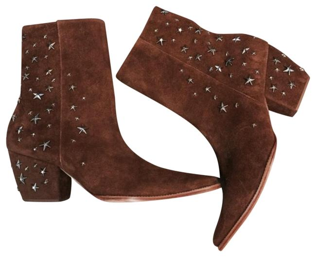 Matisse Brown Kate Bosworth Charlotte Zip Star Studded Mid Boots/Booties Size US 9 Regular (M, B) Matisse Brown Kate Bosworth Charlotte Zip Star Studded Mid Boots/Booties Size US 9 Regular (M, B) Image 1