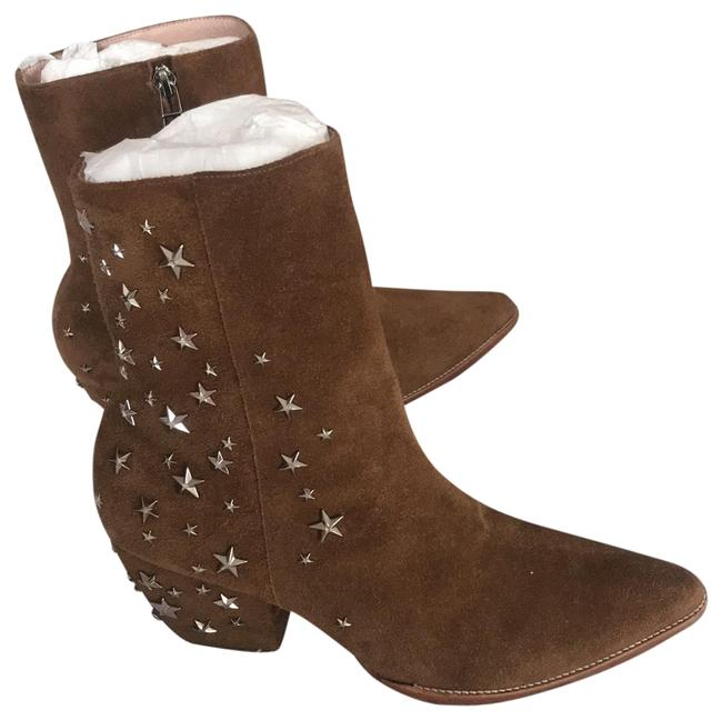 Matisse Brown Kate Bosworth Charlotte Zip Star Studded Mid Boots/Booties Size US 9 Regular (M, B) Matisse Brown Kate Bosworth Charlotte Zip Star Studded Mid Boots/Booties Size US 9 Regular (M, B) Image 2