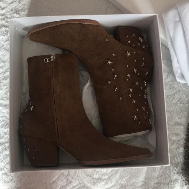 Matisse Brown Kate Bosworth Charlotte Zip Star Studded Mid Boots/Booties Size US 9 Regular (M, B) Matisse Brown Kate Bosworth Charlotte Zip Star Studded Mid Boots/Booties Size US 9 Regular (M, B) Image 5
