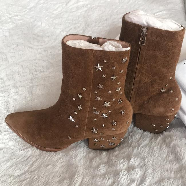 Matisse Brown Kate Bosworth Charlotte Zip Star Studded Mid Boots/Booties Size US 9 Regular (M, B) Matisse Brown Kate Bosworth Charlotte Zip Star Studded Mid Boots/Booties Size US 9 Regular (M, B) Image 6