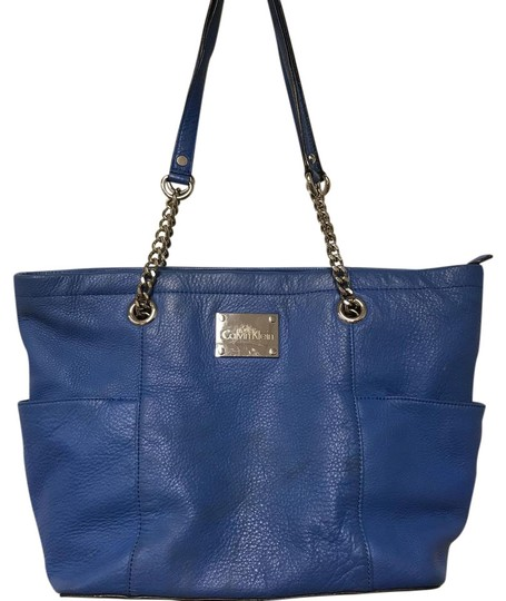 Designer Leather Tote Blue Confederated Tribes Of The Umatilla Indian Reservation