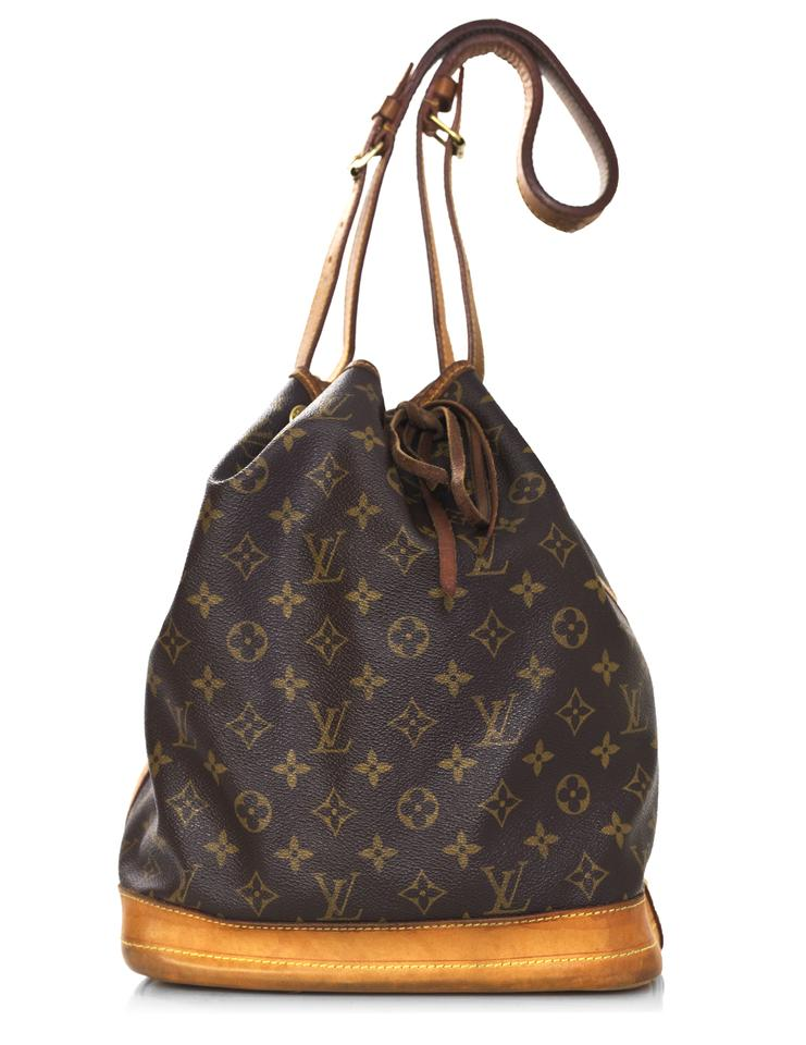louis vuitton vintage monogram noe bucket brown tote bag on tradesy. Black Bedroom Furniture Sets. Home Design Ideas