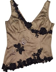 Adrianna Papell Top Beige And Black