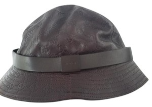 Gucci Gucci Leather Bucket Hat. Size XL.