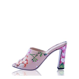 Gucci Floral Leather Slide Pink Mules