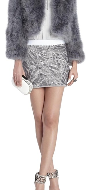 Item - Grey Margaret Marabou Feather Jacket Coat Size 4 (S)