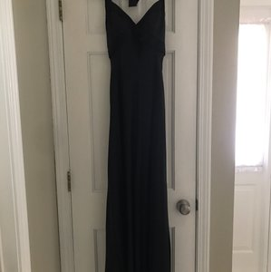 Morrell Maxie Black Silk Gown Sexy Bridesmaid/Mob Dress Size 4 (S)