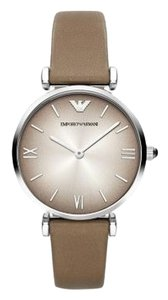 Emporio Armani Emporio Armani Brown Leather Strap Classic Watch AR1770
