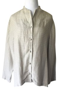 Eileen Fisher Button Down Shirt Cream