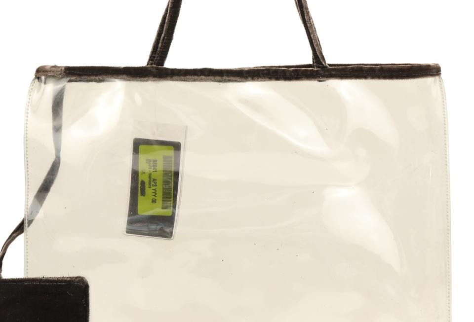 50c27d0c1fb3 Brown Tinted Transparent PVC Tote - Tradesy