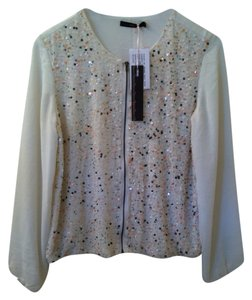 Hazel Cream Pink Sequins Jacket