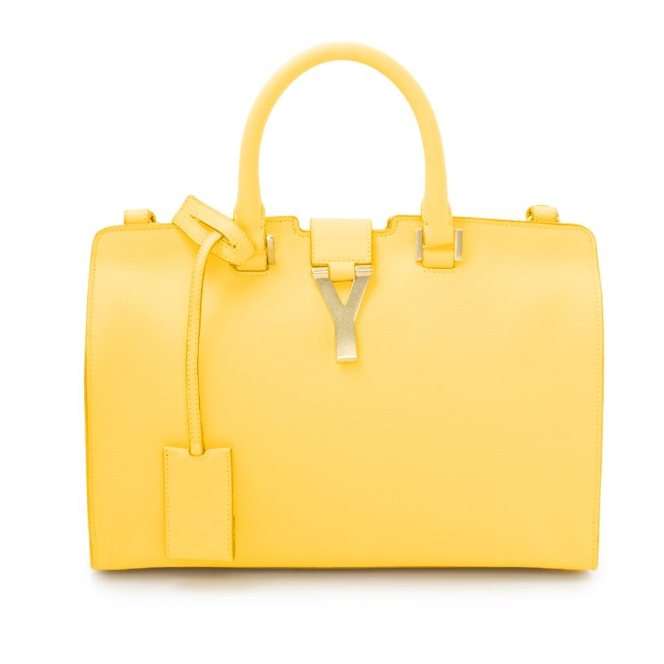 a6bbb6e0d607 Saint Laurent YSL Classic Y Cabas Small In 311210 Yellow Leather ...