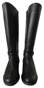 Blondo Tall Leather Waterproof Black Boots