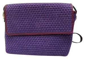 Bottega Veneta Woven Vintage Weave Violet Basket Cross Body Bag