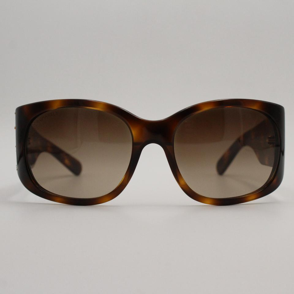 69710508e7437 Chanel Quilted Brown Square Shield 5134-b Sunglasses - Tradesy