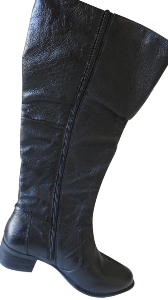5db6ae7075e Steve Madden Black Lonny Leather Boots Booties Size US 7.5 Regular ...