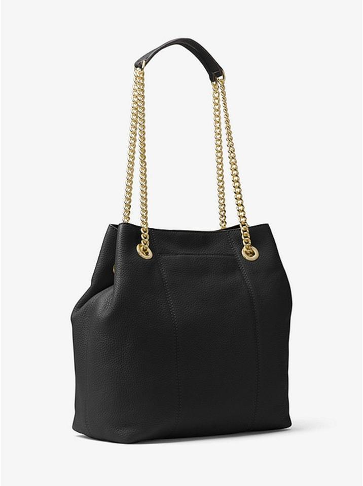 Michael Kors Handbag Jet Set Large Chain Tote Hobo Satchel Black Pebbled  Leather Shoulder Bag - Tradesy b300ed76d4523