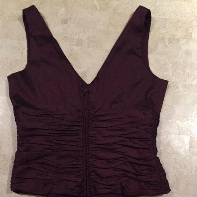 Adrianna Papell Top Wine Or Burgundy