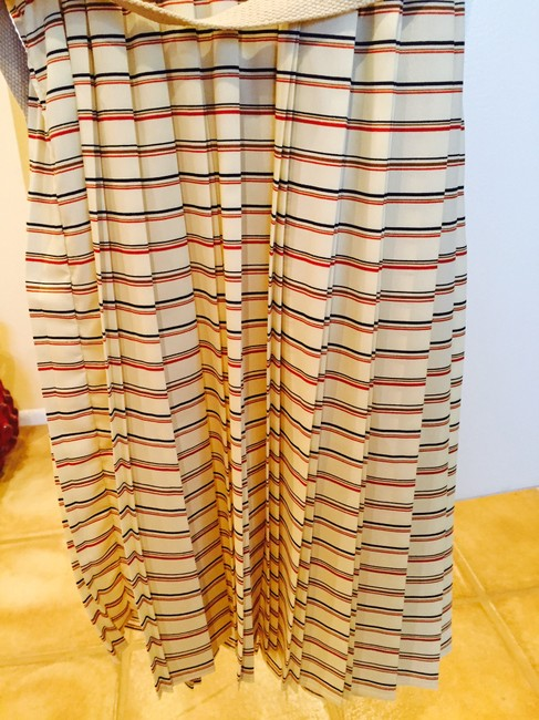Willow & Clay short dress Yellow Striped Preppy Pleated Belted on Tradesy