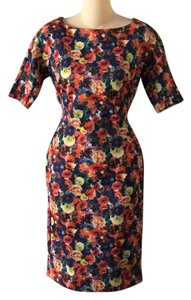 Carmen Marc Valvo short dress blue, red, green, yellow on Tradesy
