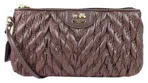 Other Coach Madison Quilted Chevron Nylon Wristlet
