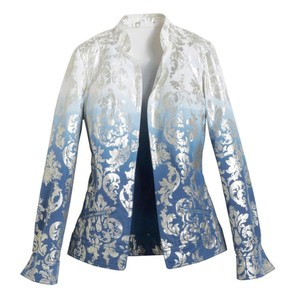 Chico's metallic blue ombre Jacket