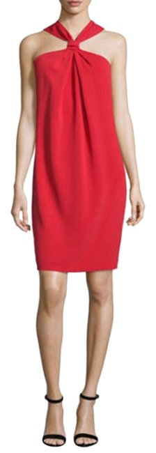 Item - Red Cady Draped Halter Short Cocktail Dress Size 2 (XS)