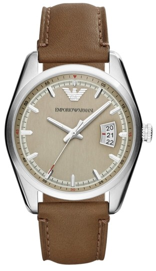 Preload https://item2.tradesy.com/images/emporio-armani-brown-taupe-leather-strap-sportivo-ar6016-watch-2229186-0-0.jpg?width=440&height=440