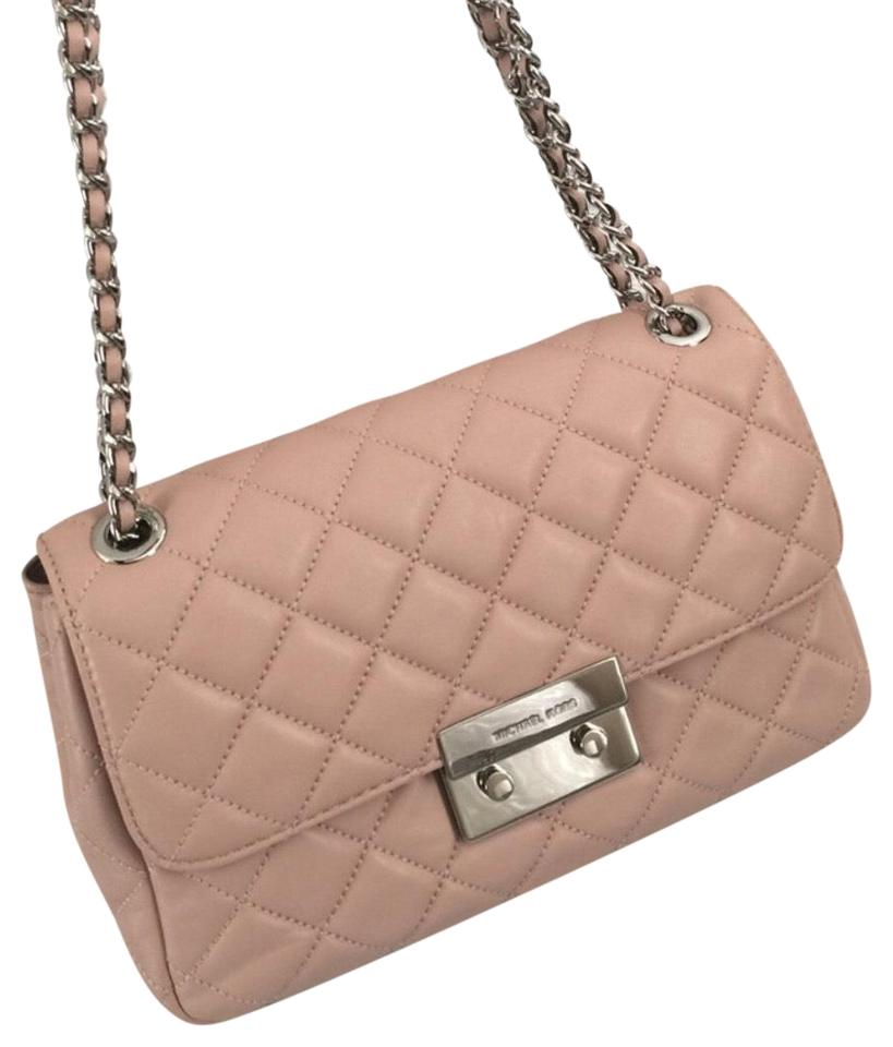 9cec3267259c MICHAEL Michael Kors Sloan Large Quilted-leather Soft Pink Lamb Leather  Shoulder Bag