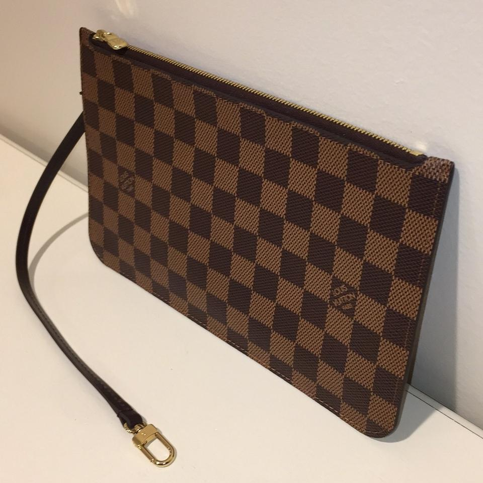 3e97a3251657c Louis Vuitton Neverfull Neverfull Neverfull Pouch Pochette Neverfull  Pochette Damier Ebene Clutch Image 9. 12345678910