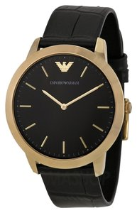 Emporio Armani Emporio Armani Black Strap Gold Case Retro Watch AR1742
