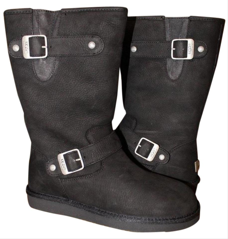 b825dd95816 UGG Australia Black Sutter Water Resistant Shearling Leather Boots/Booties  Size US 6 Regular (M, B) 53% off retail
