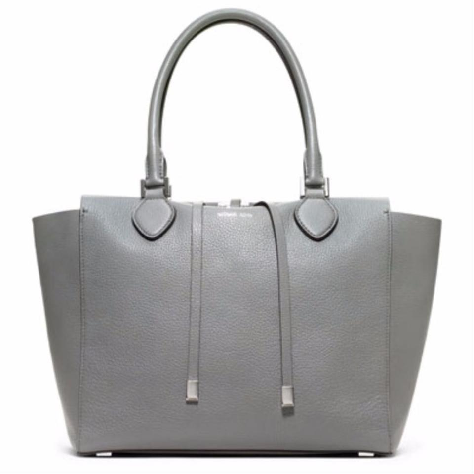 michael kors collection gray leather miranda tote tradesy. Black Bedroom Furniture Sets. Home Design Ideas