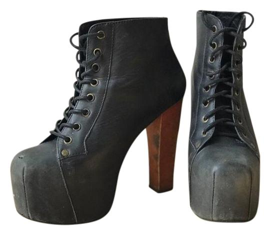 Jeffrey campbell lita platform black brown heel boots on tradesy - Jeffrey campbell lita platform boots ...