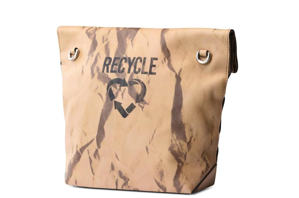 Moschino Recycle Bag Body Cross Calfskin Beige Leather 66BYqrd