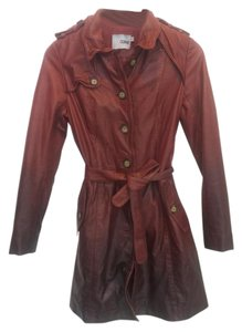 DOMA Leather Belted Edgy Classic Coat