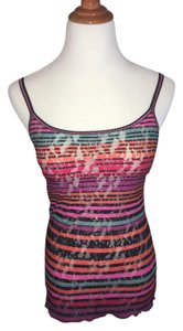 Hanky Panky Lingere Rainbow Lace Stripes Top multi-colored