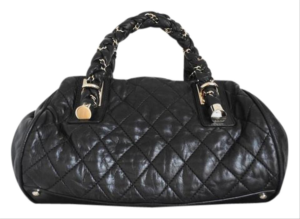 897b2d566566ef Chanel Limited Edition Quilted Lady Braid Bowler Black Lambskin ...