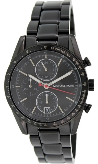 Michael Kors Michael Kors Michael Kors Men's Chronograph Accelerator Black Ion-Plated Stainless Steel Bracelet Watch 38mm MK8386