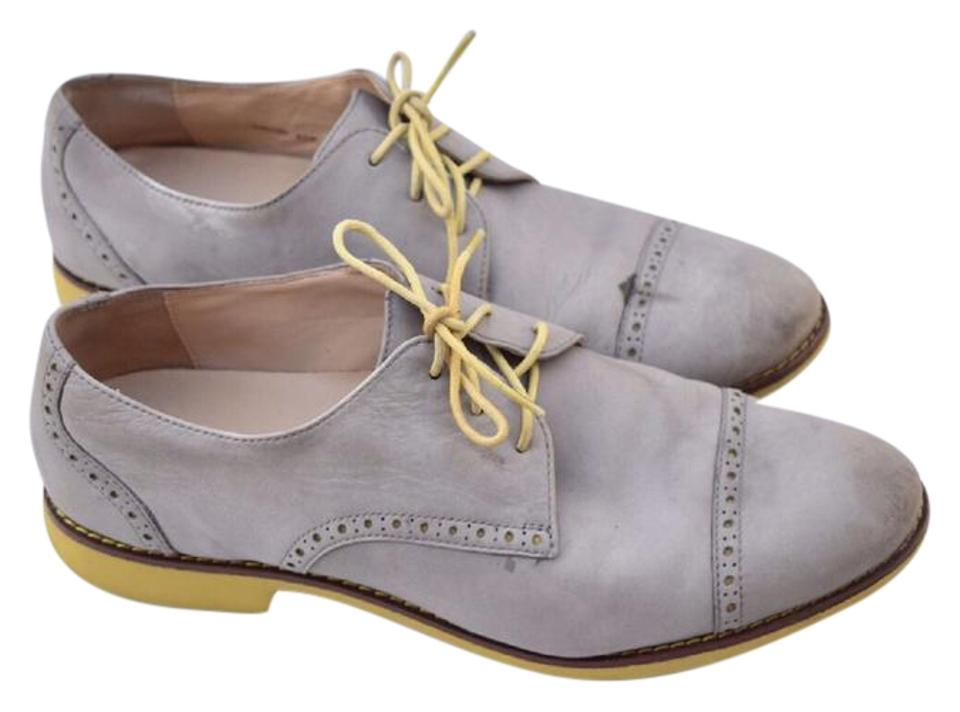 online store 2ddb8 c8cce Cole Haan Gray Oxfords Lunargrand Wingtip Flats