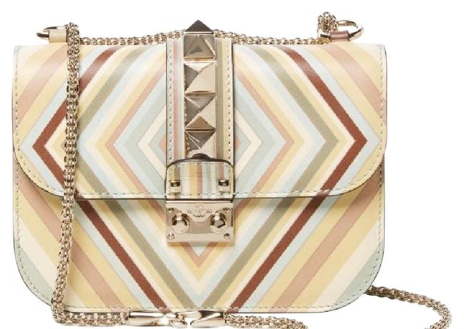 Item - Glam Lock Native Couture 1975 Small Green Multi Leather Cross Body Bag