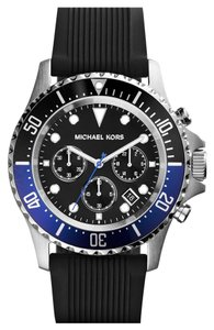 Michael Kors Michael Kors Men's Chronograph Everest Black Textured Silicone Strap Watch 45mm MK8365