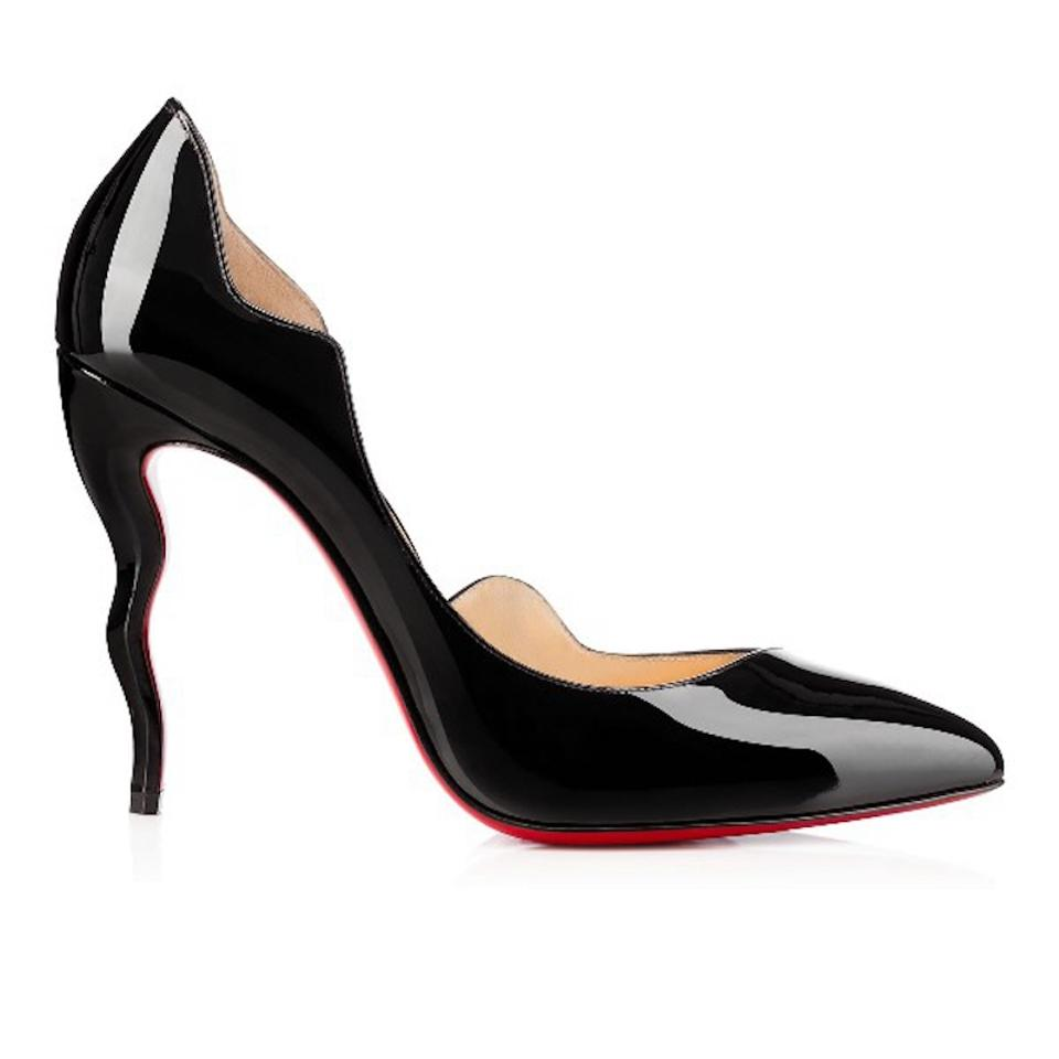 29e5293f3bf Christian Louboutin Black Dalida 100 Patent Curve Wave Heel Pumps Size EU  35 (Approx. US 5) Regular (M, B) 52% off retail
