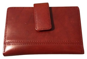 Lord & Taylor Genuine Leather Red Wallet